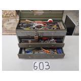 tool box w/tools. view pics.