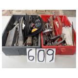 2 plastic boxes w/tools. see pics.