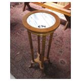 marble top plant stand. 3ft.