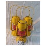 3 feuerhand railroad lanterns. germany