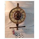 """wood clock w/ wood gears. approx 27"""""""