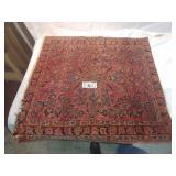 "handmade prayer rug. approx. 32""x 30"""