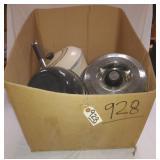 ctn. of pots and pans.