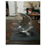 Murano glass fish made in Italy 7 by 6 in