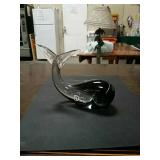 Small Murano Glass whale made in Italy 6 by 4 a