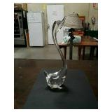 Murano Glass swan made in Italy three and a half