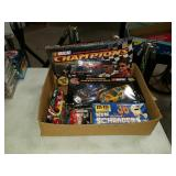 Box of diecast cars  And nascar game