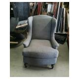 Gray color wingback occasional chair