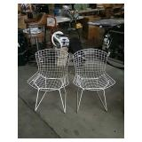 Pr. of metal mid-century chairs