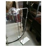 Modern Chrome floor lamp with marble base