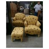 3 piece chairs and ottoman