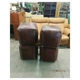 Lot of 4 brown ottomans