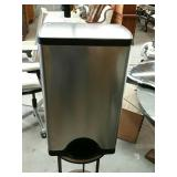 Stainless steel waste can by Simplehuman