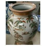 Oriental pottery vase