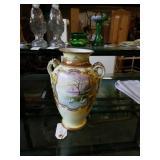Porcelain hand painted nippon vase