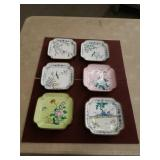 6 Chinese copper and enamel bowls