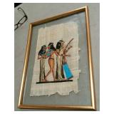 Framed Egyptian textile