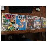 5 Comic Books The Nam #1 The Nam #56 Daredevil