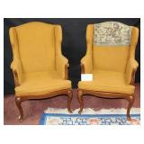 Matching High Back Hall Chairs