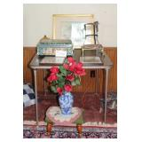 Card Table, Stool, Tin Box, Misc.