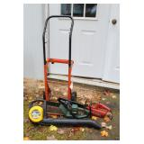 Dolly, Toro saw, Craftsman trimmer