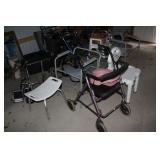 Wheel chair, walkers, handicapped assist items