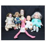 Various Dolls including perhaps the worlds ugliest