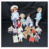 pin cushion dolls, Buttons ice skater