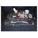 Costume Jewelry and display type case