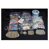 Large Lot of Costume Jewelry and coin purses