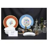Cruets, serving plates, figurines, etc