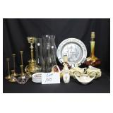 Lamps, Glassware and candle holders