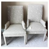 pair matching high back hallway chairs
