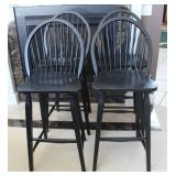 4 of 8 matching bar stool chairs