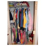 Closet contents, dresses, games, Dirt Devil