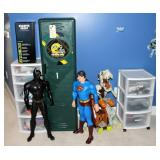 Boys toys, Superman, Batman, Packer locker