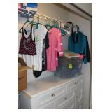 Girls closet and all contents, dresser