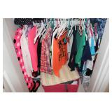 Girls closet contents