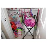 Girls closet and contents