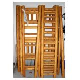 Double Twin cedar bunk bed