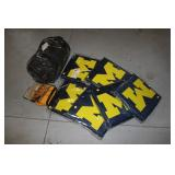 Sleeping Bag, U of M cushions, pail tool holder