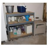 Storage shelf and hose caddy