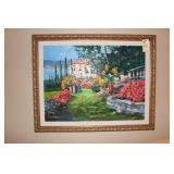 """Kerry Hallan original oil on canvas """"Villa Como"""""""