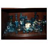 Handpainted Blue Glass