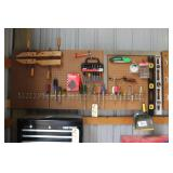 Screwdrivers, Levels, Wood Clamps