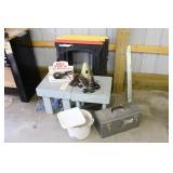 Bench Stools, 4 Saw Horses, HotPot 2, Tool Box