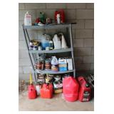 Plastic Shelf, Gas Cans