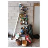 Shelf, Coleman cooler, potting soil