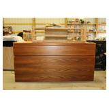 Cedar Racks and Wood Cabinet