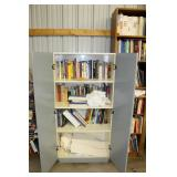 Cabinet and books